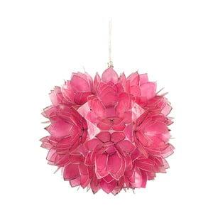 Perleťové závěsné světlo Lotus, růžové