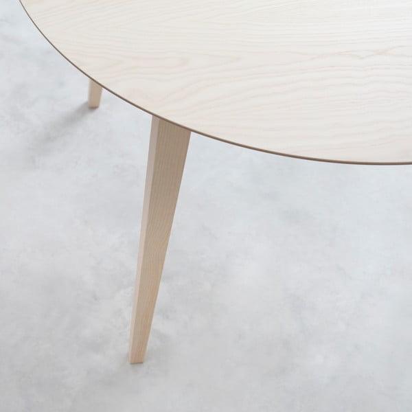 Stůl z přírodního jasanu Stua Lau, 90cm