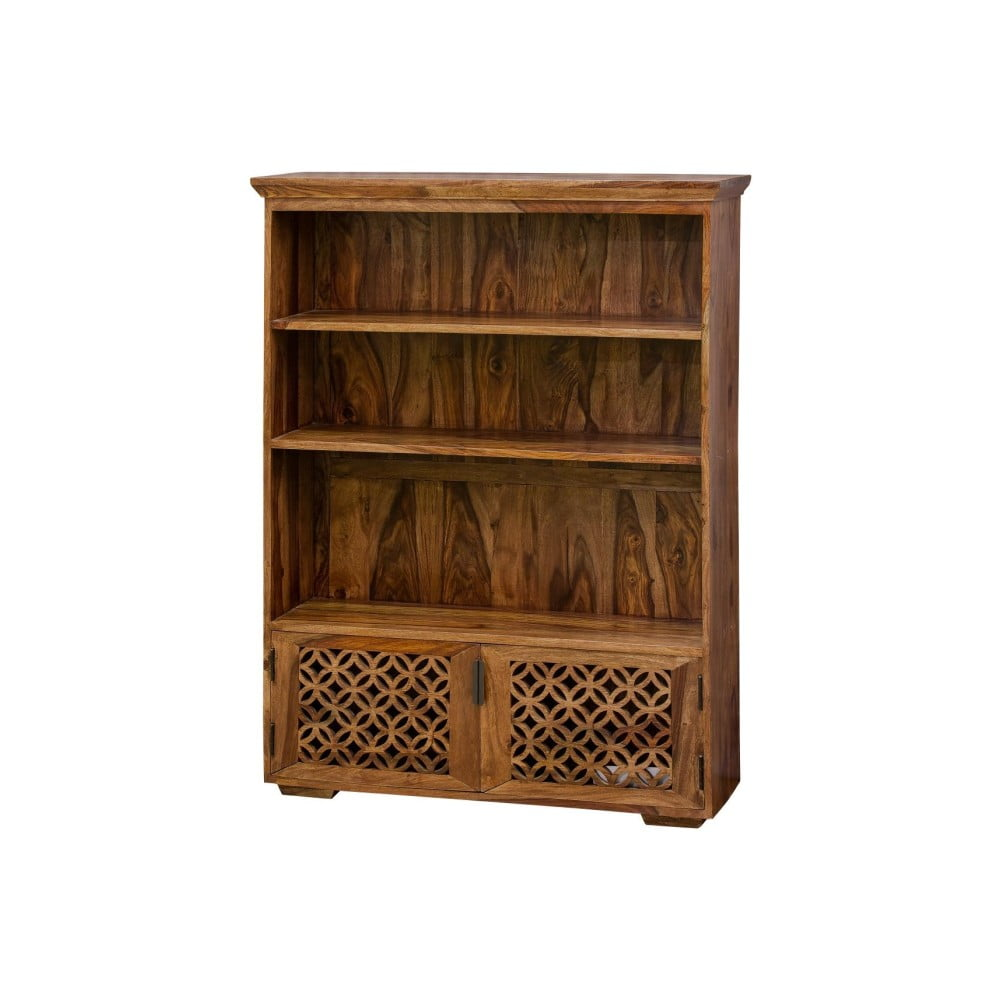 Dvoudveřová knihovna z palisandrového dřeva Massive Home Rosie