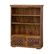 Bibliotecă din lemn de palisandru cu 2 uși Massive Home Rosie