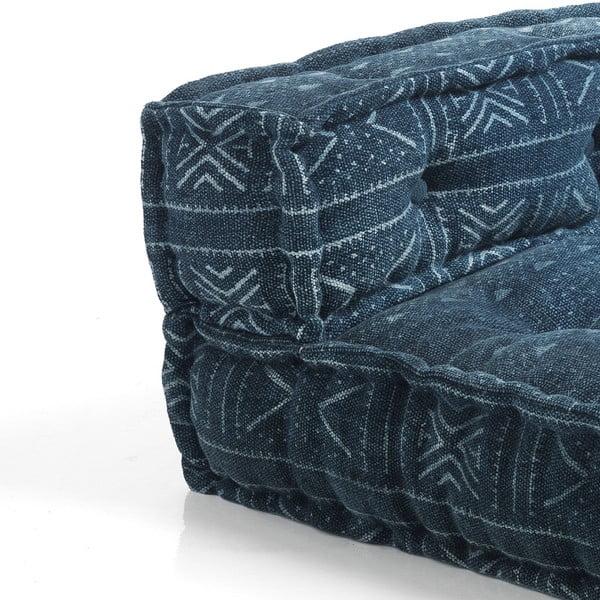 Tmavě modrý rohový díl pohovky Oreste Luchetta Yantra