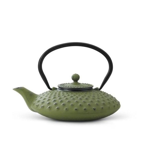 Zelená litinová konvice se sítkem na sypaný čaj Bredemeijer Xilin, 800ml
