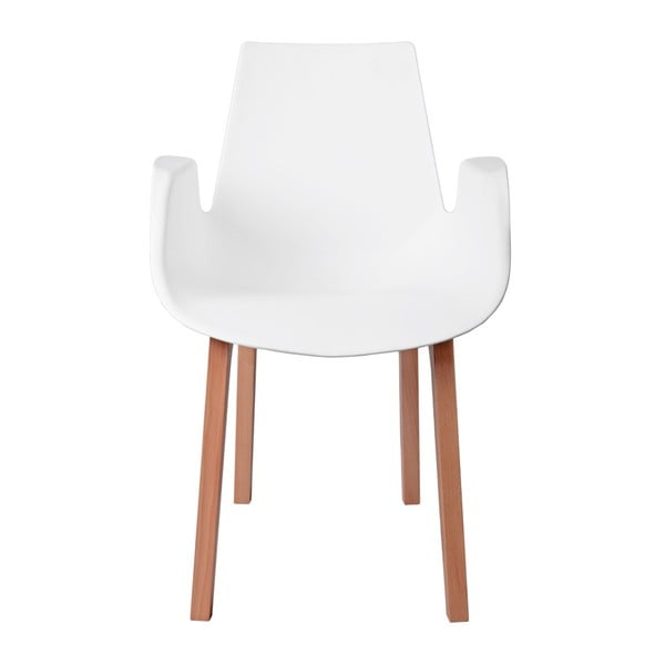 Sada 2 bílých židlí D2 Mokka