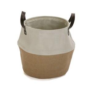 Krémovo-hnědý úložný koš Versa Home, ⌀ 30 cm