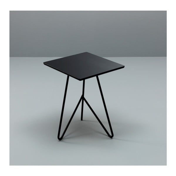 Černý odkládací stolek Design Twist Padang