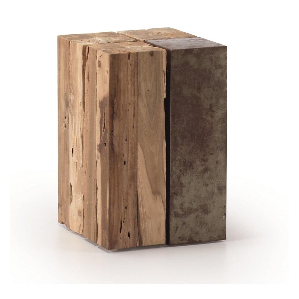 Odkládací stolek z teakového dřeva La Forma Ognak
