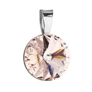 Hnědý přívěsek ze stříbra se Swarovski krystalem Je Veux Herno