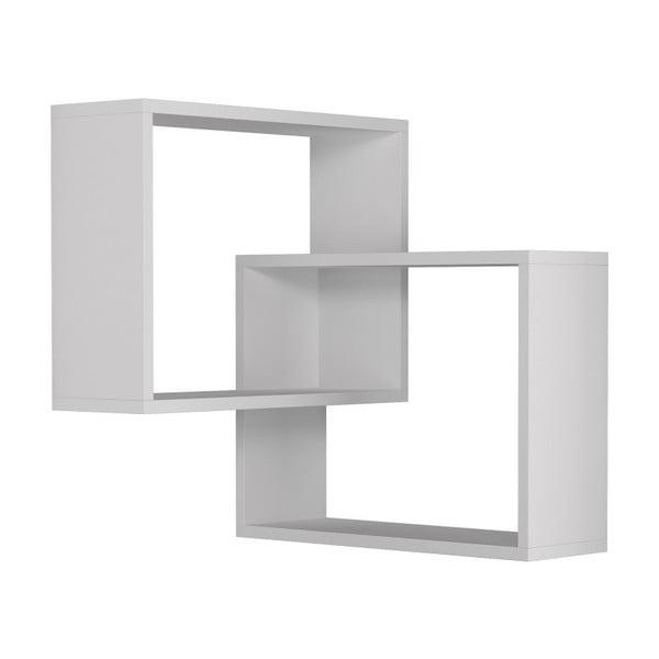Biała półka narożna Homitis Ring