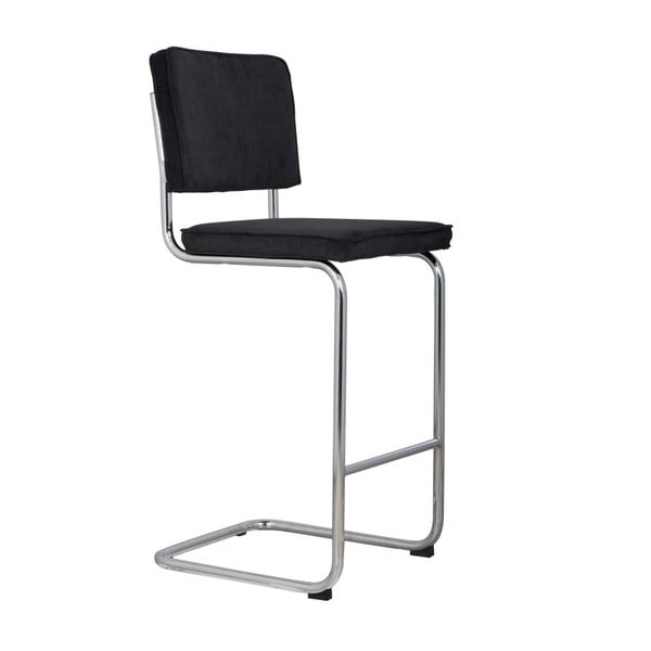 Černá barová židle Zuiver Ridge Rib