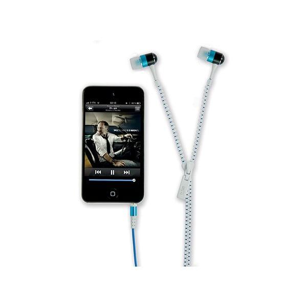 Sluchátka hi-Zip, bílá/modrá
