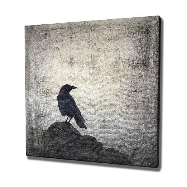 Tablou pe pânză Black Bird, 45 x 45 cm