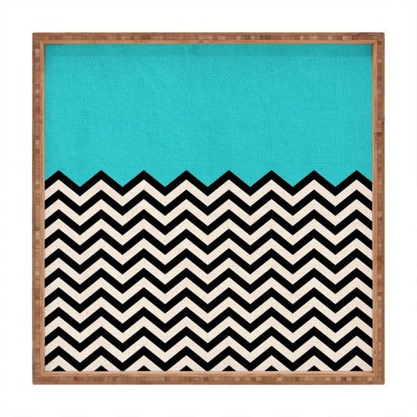 Tavă decorativă din lemn Azzure, 40x40cm