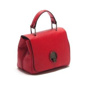 Červená kožená kabelka Isabella Rhea Iocusta