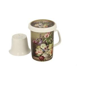 Porcelánový hrnek s porcelánovým sítkem Duo Gift Renee, 320 ml