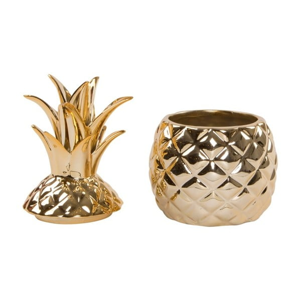 Dekorativní dóza s poklopem Sass & Belle Gold Pineapple
