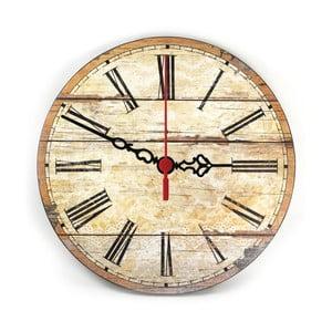 Nástěnné hodiny Retro Wood, 30 cm