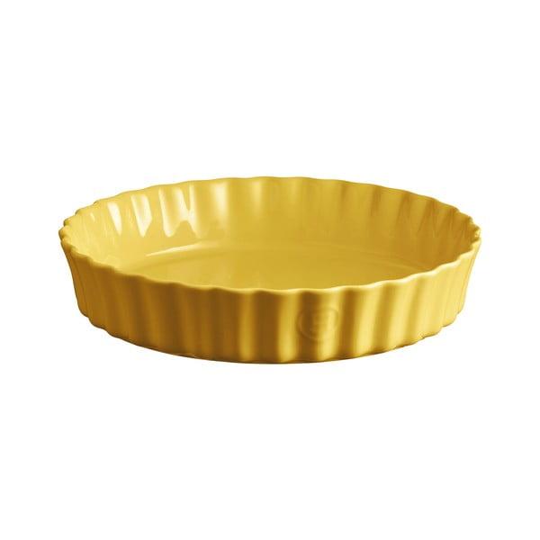 Formă pentru plăcintă Emile Henry, ⌀ 28 cm, galben deschis