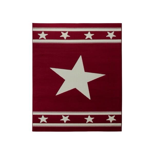 Koberec City & Mix - červená hvězda, 140x200 cm