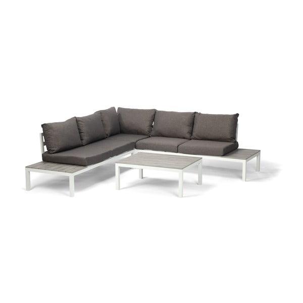 Szara sofa ogrodowa Timpana Lustio