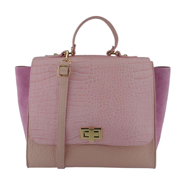 Kožená kabelka Noemi Pink