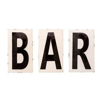 Litere smălțuite Antic Line Bar