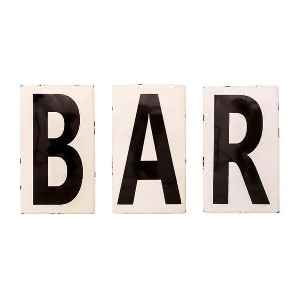 Smaltovaná písmena Antic Line Bar