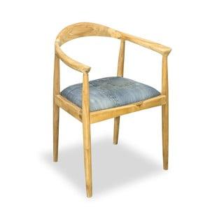 Scaun din lemn de tec Bluebone Denim