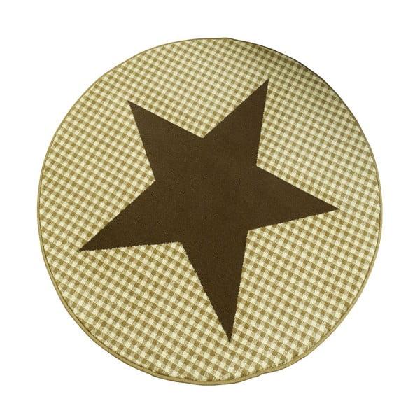 Koberec City & Mix - hnědá hvězda, 140 cm