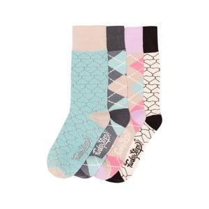 Sada 4 párů barevných ponožek Funky Steps Rainbow, velikost 35 – 39