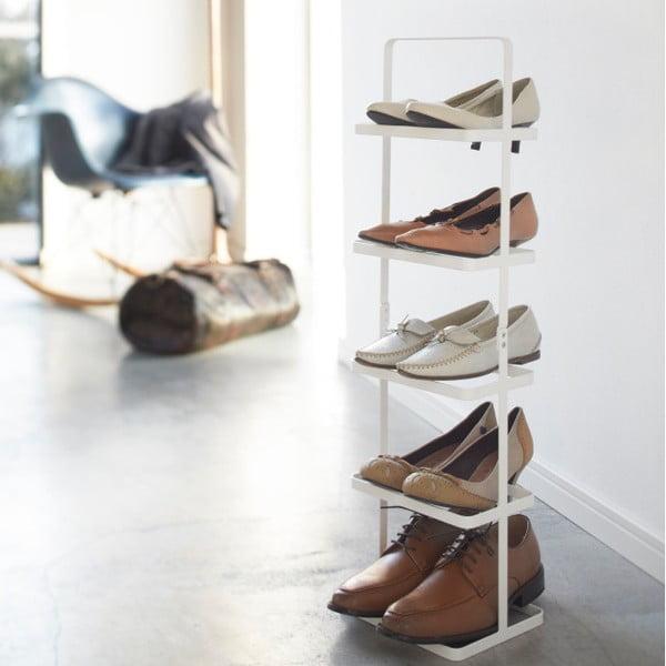 Bílý vysoký stojan na boty YAMAZAKI Tower Shoe Rack