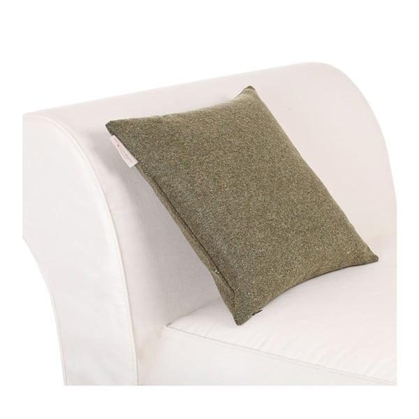 Vlněný polštář Tweed 40x40 cm, zelený