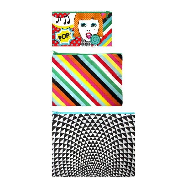 Sada 3 univerzálních taštiček Zip Pop