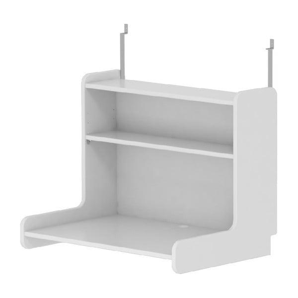 Biała półka do łóżka dziecięcego Flexa White, dł. 70 cm