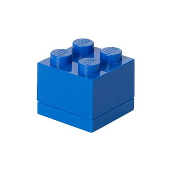 Cutie depozitare LEGO® Mini Box Blue, albastru imagine