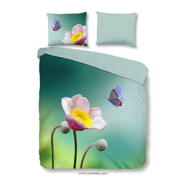 Bavlněné povlečení Good Morning Anemone, 200 x 200 cm