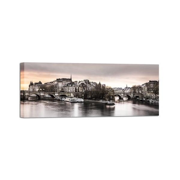 Canvas Paris City fali kép, 60 x 150 cm - Styler