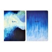 Sada 2 zápisníků A5 Portico Designs Blue Abstract, 100stránek