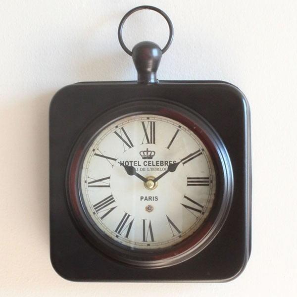 Kovové hodiny Hotel Celebres, 19x28 cm