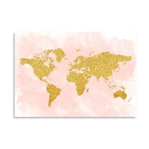 Poster Americanflat  World Glitter, 30 x 42 cm