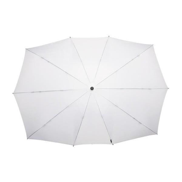 Bílý obdélníkový deštník pro dvě osoby Ambiance Falconetti