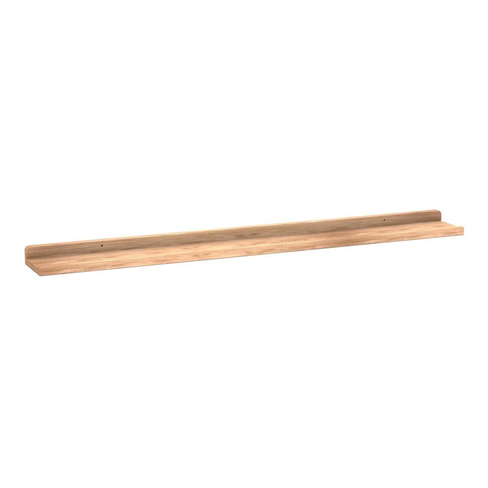Přírodní dubová polička na obrázky Folke Gorgona, délka 100 cm
