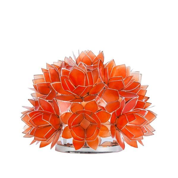 Perleťová stolní lampa Dome, oranžová