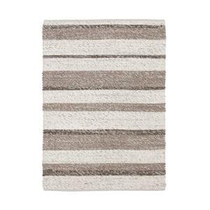Béžový ručně tkaný vlněný koberec Linie Design Wonders, 170x240cm