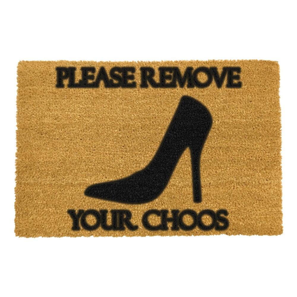 Rohožka z přírodního kokosového vlákna Artsy Doormats Remove Shoes,40x60cm