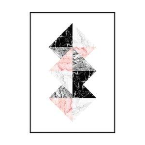 Plakát Imagioo Three Marble Squares, 40x30cm