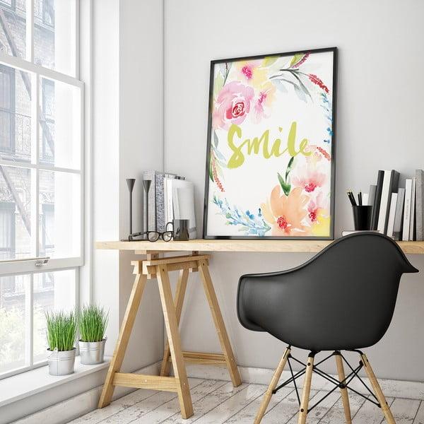 Plakát s květinami Smile, 30 x 40 cm