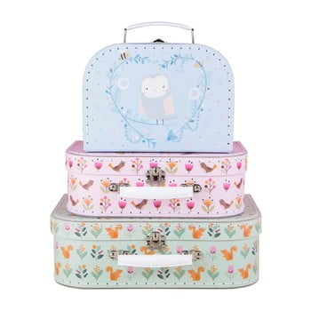 Set 3 valize pentru copii Sass & Belle Woodland Friends de la Sass & Belle