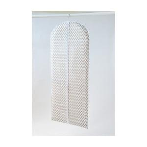Husă textilă pentru îmbrăcăminte Compactor Clear, 137 cm, alb
