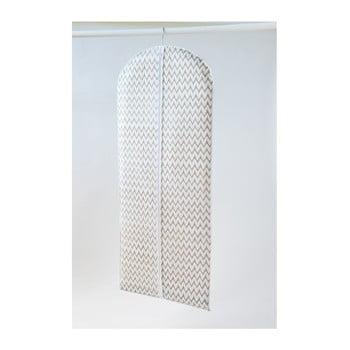 Husă textilă pentru îmbrăcăminte Compactor Clear, 137 cm, alb imagine