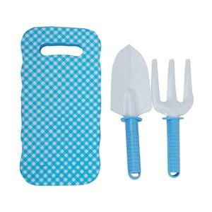 Set modré dětské podložky s lopatkou a hrabičkami Esschert Design Pattern